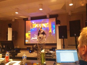 "Jeremy Brech ""DJ Jer"" of DJ Jer Event and Lighting Design presenting on how to get the most out of lighting fixtures"